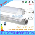 30pcs T8 R17D LED tube SMD 2835 26W=5ft  32W=6ft  45W=8ft 85-265V light fluorescent lamp led tubes warranty 3 years