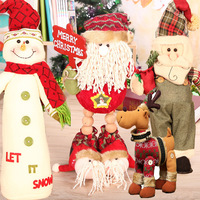 2018 Hot Selling Newest Direct Sale of Popular Christmas Dolls Stuffed Toys Santa Claus Snowman Deer Christmas Decorations Props