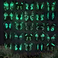 25 adet/8 CM yapay ışıklı kelebek bahçe dekorasyon çiçek düzenleme saksı manzara çiçek kök vazo dekorasyon