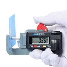 Precyzyjny cyfrowy miernik grubości miernik Tester mikrometr 0-12.7MM 0.01MM cyfrowy miernik grubości grubościomierz