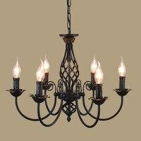 Nowoczesna lampa wisząca do holu jadalnia pierścień pojedynczy Arts oświetlenie dekoracyjne antyczne złoto zawieszenie lampa wisząca E14 światła w Wiszące lampki od Lampy i oświetlenie na