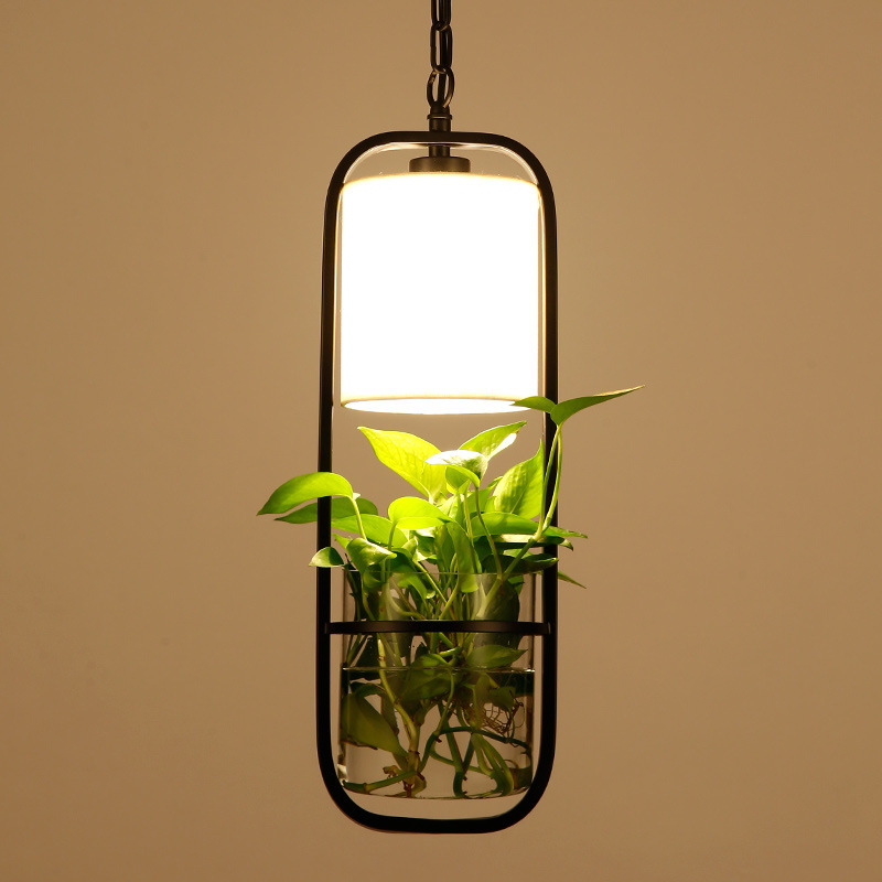 Pendant Light Garden Flowers Potted Plants Pendant Lamp Wrought iron Glass Garden Suspension Lights Nordic bar Bedroom Lamp G176Pendant Light Garden Flowers Potted Plants Pendant Lamp Wrought iron Glass Garden Suspension Lights Nordic bar Bedroom Lamp G176