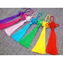 100 Pcs Polyester Chinese Knots Knotting Tassel Blessing Lucky Gifts Curtain Garment Hang Decorations Pendant Decoration