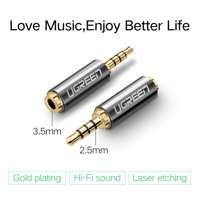 Ugreen Jack 3.5 mm to 2.5 mm Audio Adapter 2.5mm Male to 3.5mm Female Plug Connector for Aux Speaker Cable Headphone Jack 3.5 1