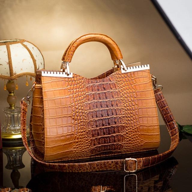 2015 new winter fashion Women Shoulder Bag crocodile pattern Tote Retro Crossbody bags crocodile handbag L059