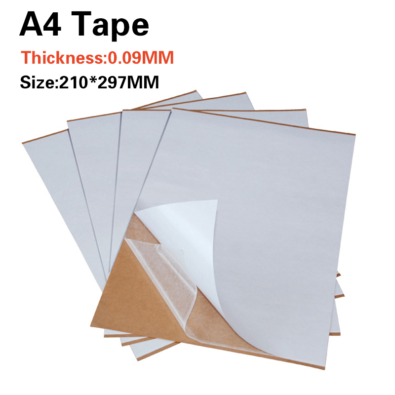 50 Sheets Lot Transparent A4 Double Sided Adhesive Sheet