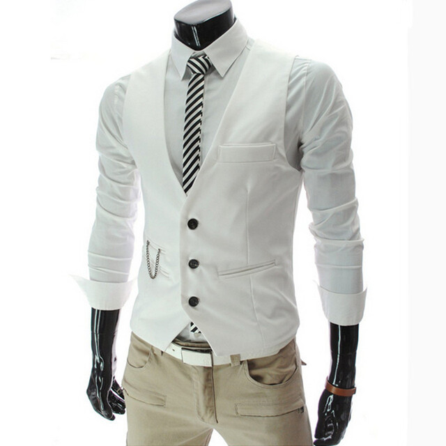 Новый 2015 мужская мода высокого качества тонкая классический деловой костюм жилет/мужской свадебный банкет джентльмен высокого-класс костюм жилет