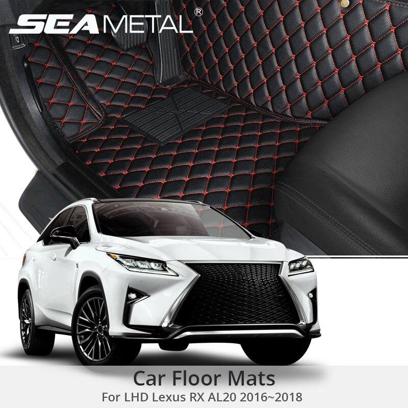 For LHD Lexus RX AL20 2018 2017 2016 Car Floor Mats Custom Rugs Auto Interior Leather
