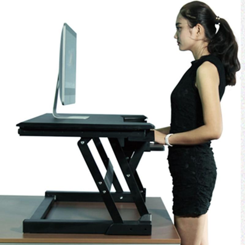 Height Adjustable Sit Stand Desk Riser Foldable Laptop Desk Stand ...