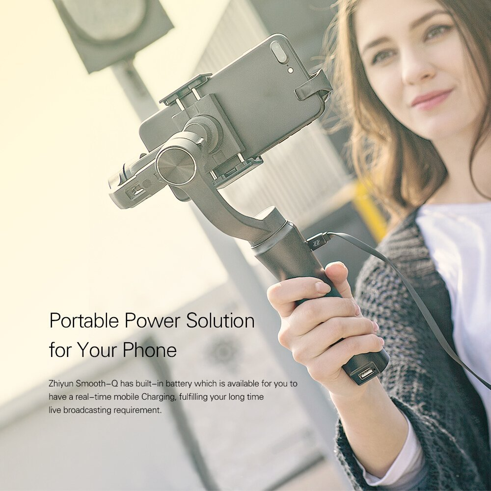 Zhiyun Smooth Q 3 Axis Handheld Gimbal for font b Smartphone b font Up to 6
