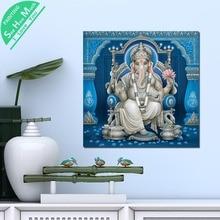 Лучший!  1 Шт. Синий Лорд Вишну Бог Вуд HD Печатные Холст Wall Art Плакаты и Принты Плакат Живопись  Лучший!