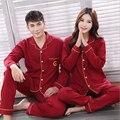 100% Хлопок Пара Пижамы Множеств Любители Сопоставления Одежда С Длинным Рукавом Пижамы Набор Ночной Костюм Пижамы Для Женщин Мужчины Домашняя Одежда