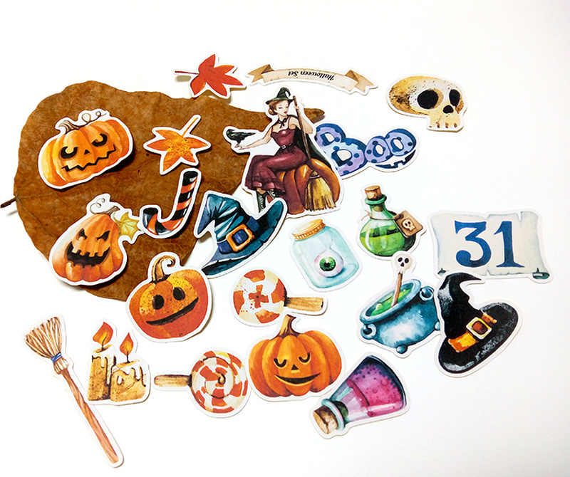 22 قطعة لطيف هالوين ملصقات للهاتف سيارة التسمية الزخرفية القرطاسية ملصقات سكرابوكينغ DIY ألبوم يوميات لعبة ملصقا