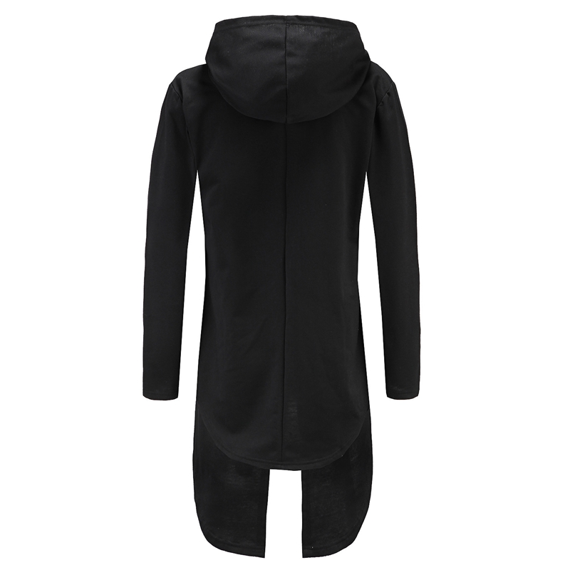 Womens hoodies long sleeve hoody with black hood gown fashion robe ...