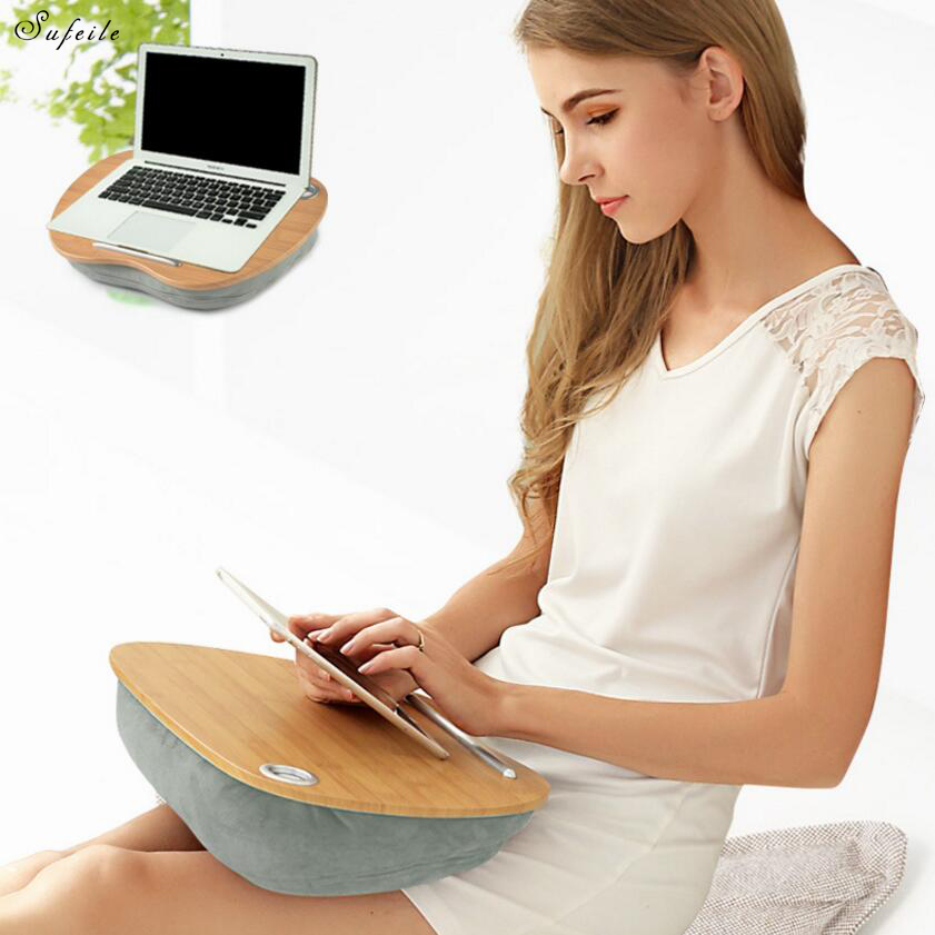 SUFEILE Multifunctional Laptop Desk Portable Notebook Computer desk Bed Pillow Laptop Desk Outdoor pillow Office nap pillow D30 creative rhinestone swans pattern square shape pillow for office nap without pillow inner