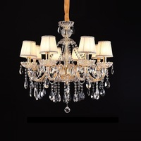 Luxurious Export K9 Clear Crystal Chandelier 6/8/12/15/18 Arms Export Class A K9 Lustres De Cristal Chandelier LED chandelier