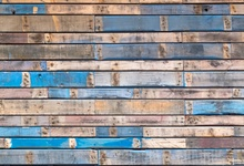 Laeacco Wooden Backdrops For Photography Blue Fade Peeled Board Planks Child Portrait Photographic Backgrounds For Photo Studio