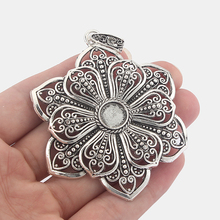 2pcs Antique Silver Large Filigree Flower Pendants for Necklace Jewelry Findings with 10mm Blanks Tray Settings sweet bell free shipping 40pcs lot antique silver tone oval filigree frame cameo settings 22 30mm fit 13 18mm d0775
