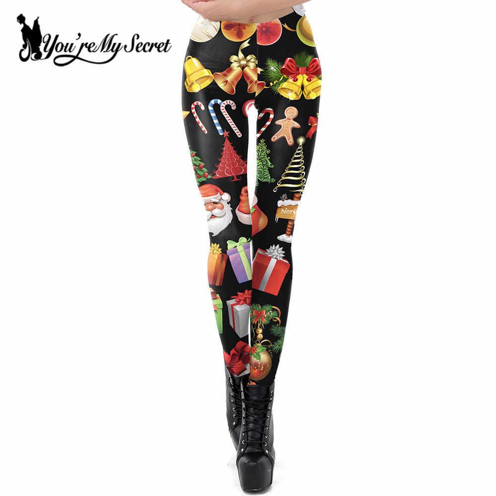 06934d55c6529 [You're My Secret] Christmas Costume Leggings Women Gift Girls Leggins  Festival Clothing