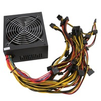 UK Plug Professional Gold Mining ATX Power Supply 1800W Support 6 GPU Cards For 470 570