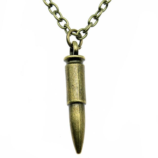 3D Bullet Necklace Vintage 3D Bullet Long Necklace 3D Bullet Pendant  Necklaces For Women Dropship Jewelry