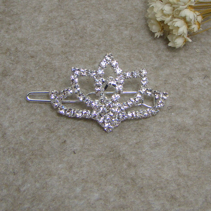 New silver rhinestone floral pointed tiara crown dog or girls hair ornament clips jewelry accessories 6pcs lot new free shipping