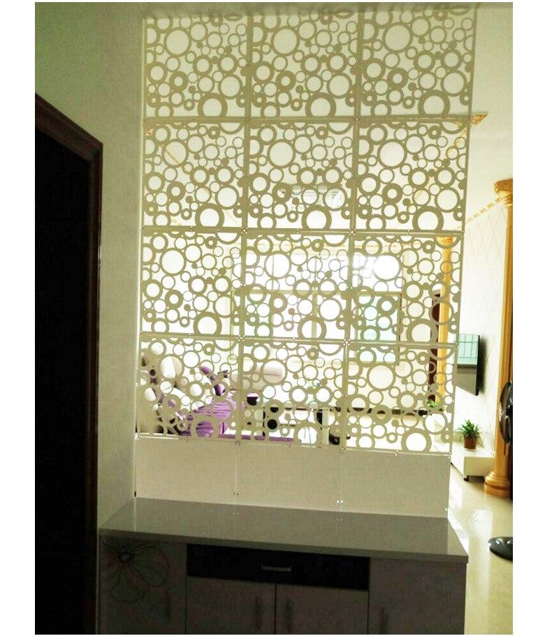 8 ШТ. Висит экран творческий tvsetting стены искусства бумаги вырезать гостиная крыльцо раздел контракт исследования по продаже пвх занавес