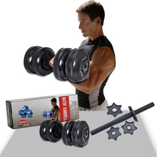 цены High Quality Heavy Weight up to 55lb/25kg Adjustable Water Filled Dumbbells for fitness man/women