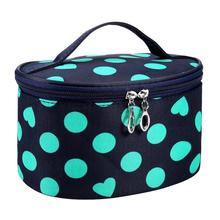 Dot Series Portable Cosmetic Bag New Arrival Large Capacity Cosmetic Bag Korean Makeup Bag Neceser Maquillaje #7919