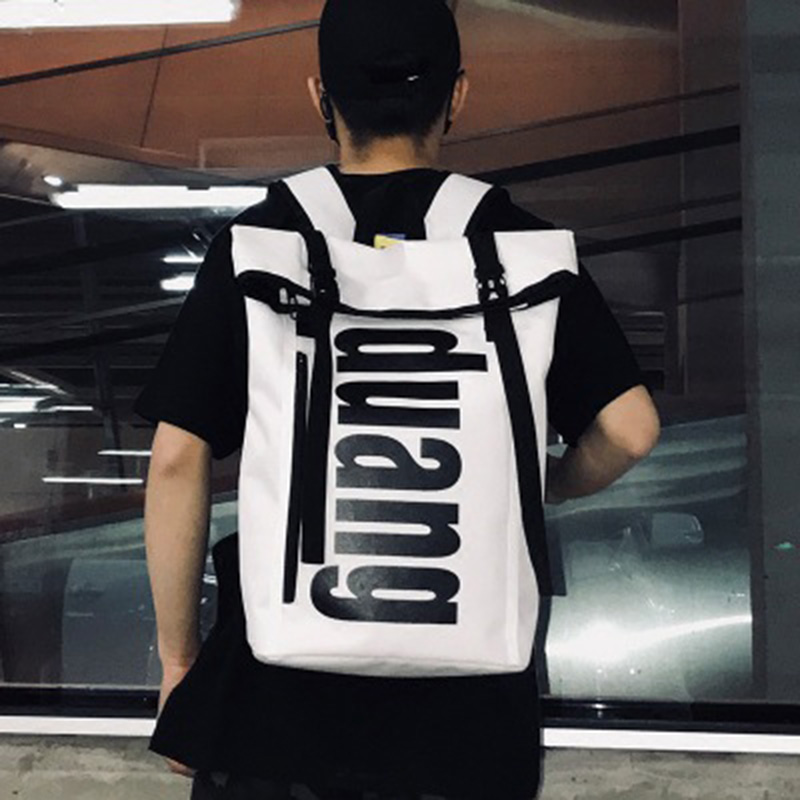 Cross-border schoolbag men's large-capacity fashion college wind campus personality high school students street fashion backpack
