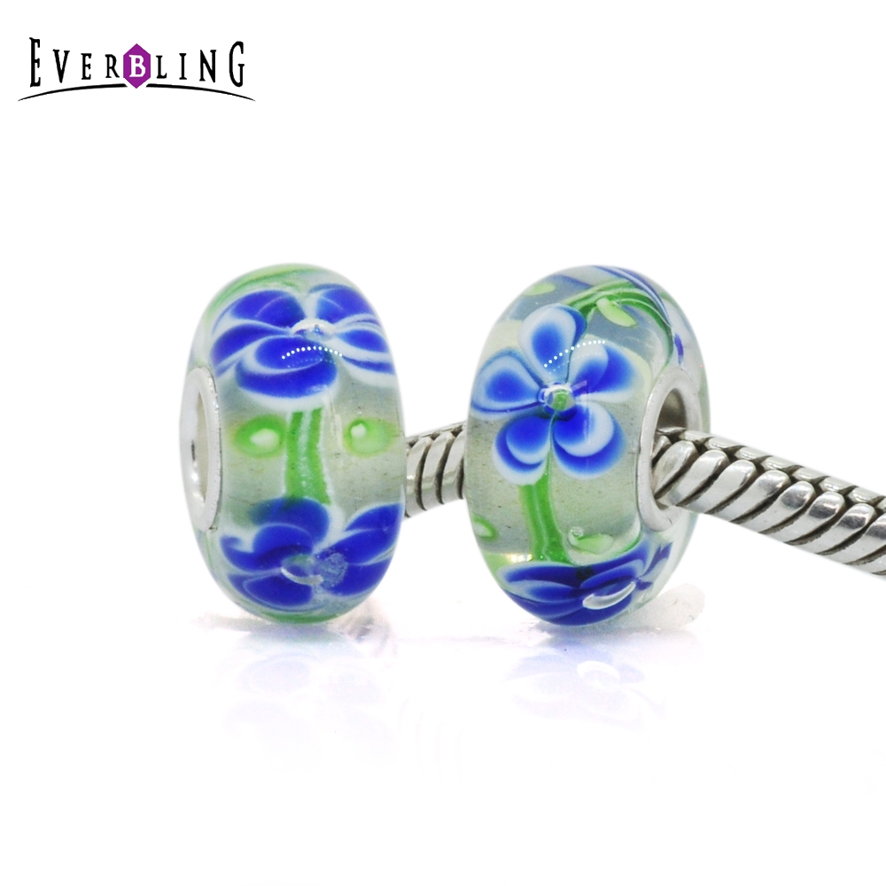 Blue flower murano glass 100 925 sterling silver charm beads fit blue flower murano glass 100 925 sterling silver charm beads fit pandora european charms bracelet m in beads from jewelry accessories on aliexpress izmirmasajfo