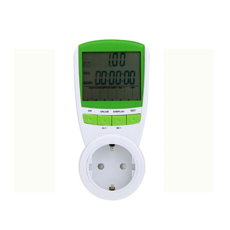 New Power smart socket LCD power meter voltage test measurement supply equipment