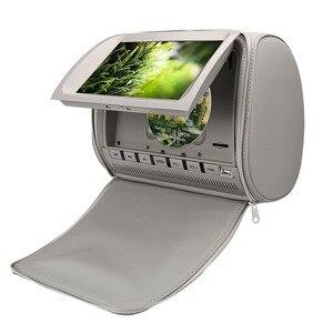 Image 3 - 2 pcs 9 인치 dvd headrest 자동차 모니터 800*480 지퍼 커버 tft lcd 화면 mp5 플레이어 지원 ir/fm/usb/sd/스피커/게임 자동차 tv