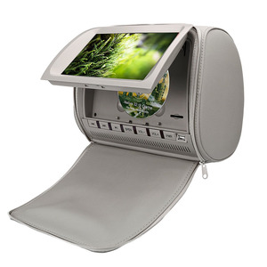 Image 3 - 2PCS 9 Inch DVD Kopfstütze Auto Monitore 800*480 Zipper Abdeckung TFT LCD Bildschirm MP5 Player Unterstützung IR /FM/USB/SD/Lautsprecher/Spiel Auto TV