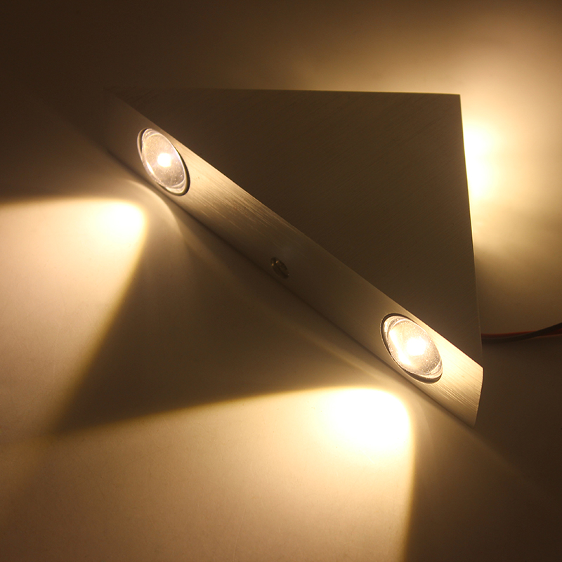 3W 9W LED Sconce AC85-265V Modern Triangle Indoor Wall-Mounted LED Wall Lamp Aluminum for DIY Fixture Lighting Decoration