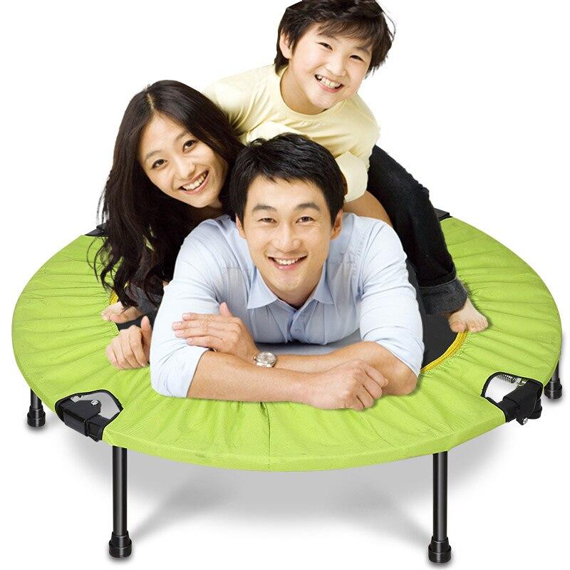 Mini Trampoline cadeaux pour enfants Portable et pliable pour usage domestique et extérieur robuste pour adulte Fitness entraînement Gym musculation
