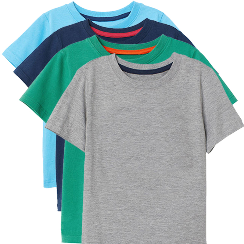 Summer 2019 Fashion Cotton T Shirt For Boy Girls Tops Child Modis Solid T Shirt Kids Baby Boys T Shirt For Children 2-8 Years