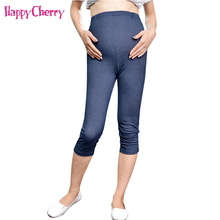 Spring Autumn Maternity Adjustable Leggings for Pregnant Women Cotton Slim Pants Casual Maternity Care Belly Capris Trousers