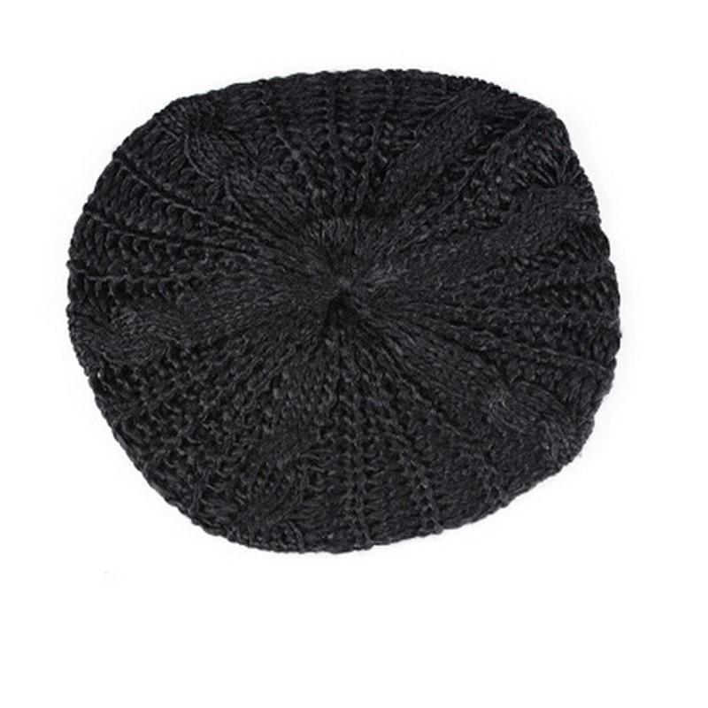 New Arrivals Women's Lady Beret Braided Baggy Beanie Crochet Warm Winter Hat Cap Wool Knitted  For Female Fashion Accessory akg y20 стерео наушники вкладыши black