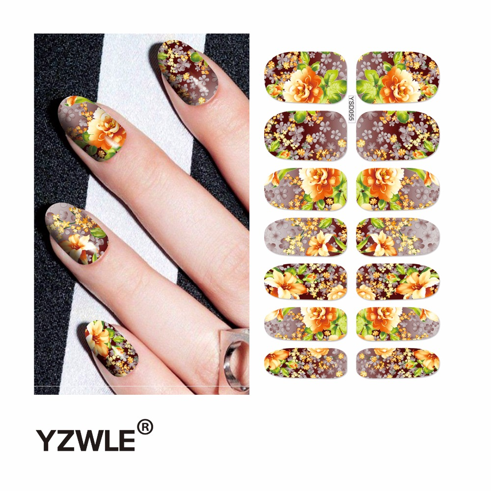 YZWLE 1 Sheet Water Transfer Nails Art Sticker Manicure Decor Tool Cover Nail Wrap Decal (YSD055) yzwle 1 sheet water transfer nails art sticker manicure decor tool cover nail wrap decal ysd058