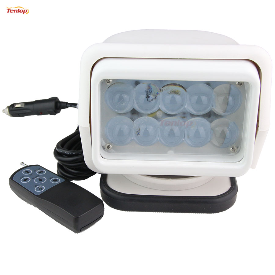 Rotatable 50W LED Searching Light With Magnetic Base For SUV Offroad 4*4 Boat Household Hunting 12/24V