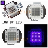 Freeshipping High Quality 1PCS 10W 20W 30W 50W 100W 45MIL UV 395 400nm LED Purple Light