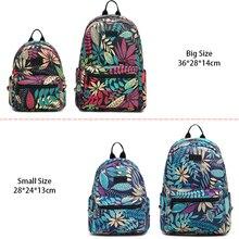 Backpack Women School Shoulder Bags for Teenage Girls 2019 Hot New Laptop Travel Bagpacks Escolar Mochilas Feminine Leaf Printed