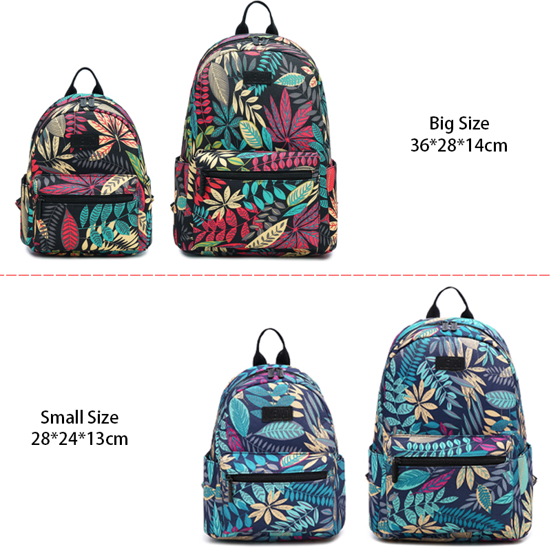 Backpack Women School Shoulder <font><b>Bags</b></font> for Teenage Girls 2019 Hot New Laptop Travel Bagpacks <font><b>Escolar</b></font> <font><b>Mochilas</b></font> Feminine Leaf Printed image