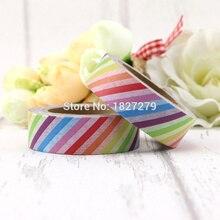 1pcs  Rainbow Colorful Stripes Washi Tape Decorative Papelaria Label Masking Sticker