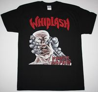 Latigazo cervical y dolor Thrash Speed metal Slayer kreator nuevo negro camiseta