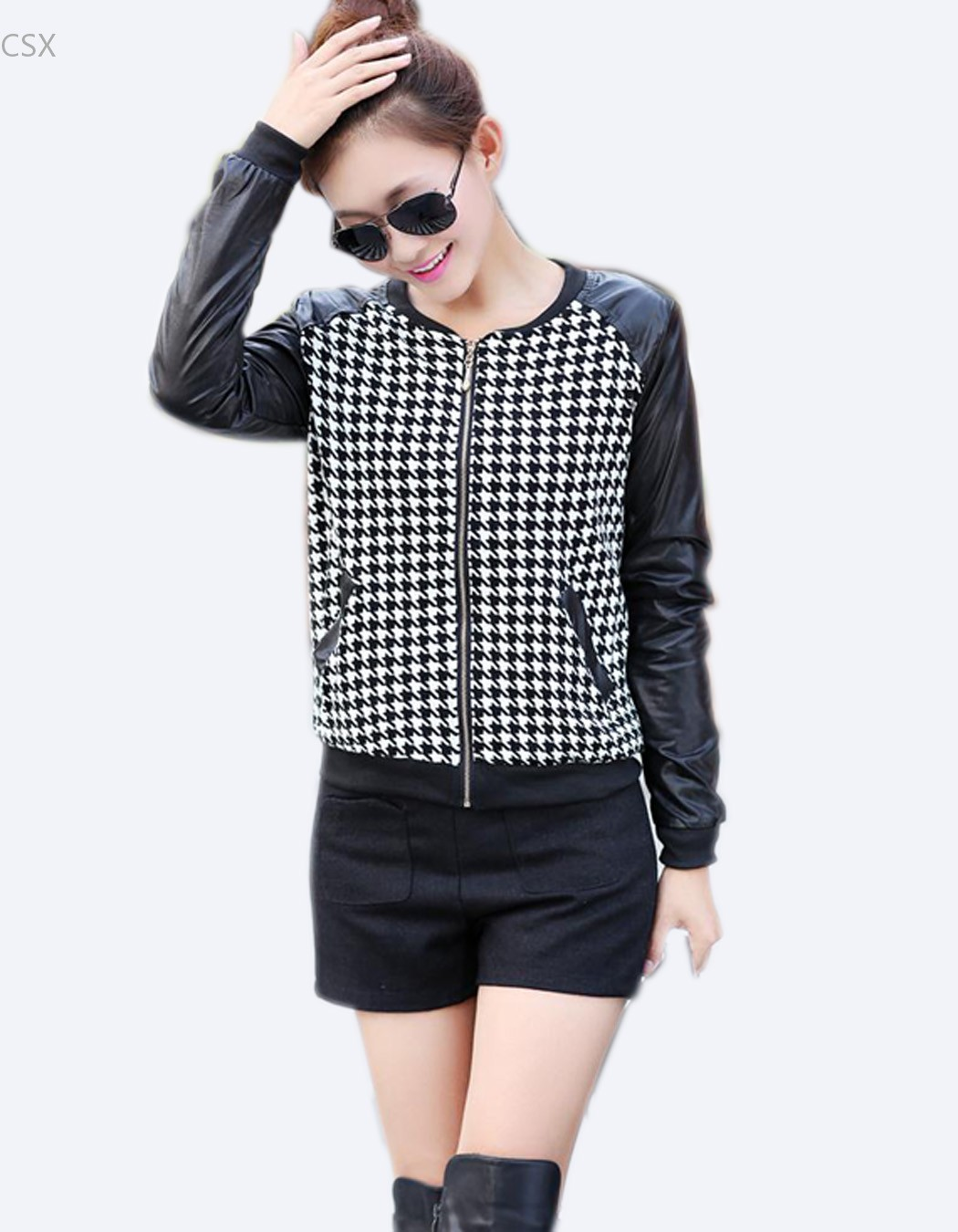 Popular Houndstooth Jacket Women-Buy Cheap Houndstooth Jacket ...