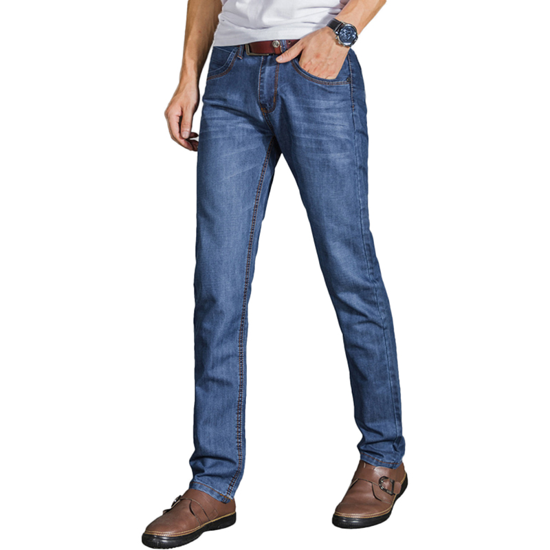 Men Jeans Pants Famous Brand 2017 new casual Men stripe Jeans Men Slim Fit Skinny male Jeans cotton Denim Pants Trousers rb580 new 2016 famous brand men jeans male pants casual stretch slim straight long man trousers jeans for men denim pants y433