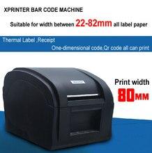 Puerto USB de alta Velocidad impresora de etiquetas de código de barras impresora Térmica Impresora de Etiqueta Ropa máquina de etiquetado Xprinter XP-360B