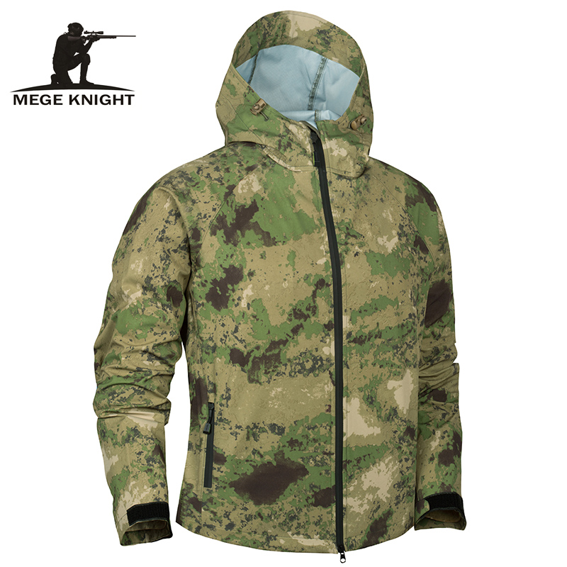 Mege Men's Tactical Waterproof Jacket Summer Military Light Army Clothing Men Camouflage Soft Shell Multicam Windbreakers Bomber
